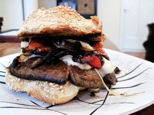 Roasted Portobello Mushroom Sandwich nestMeg
