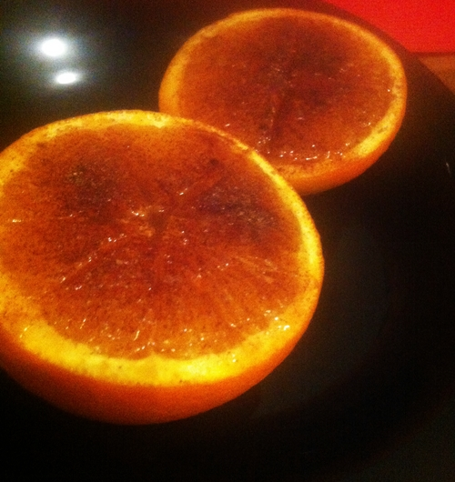 sweet broiled oranges